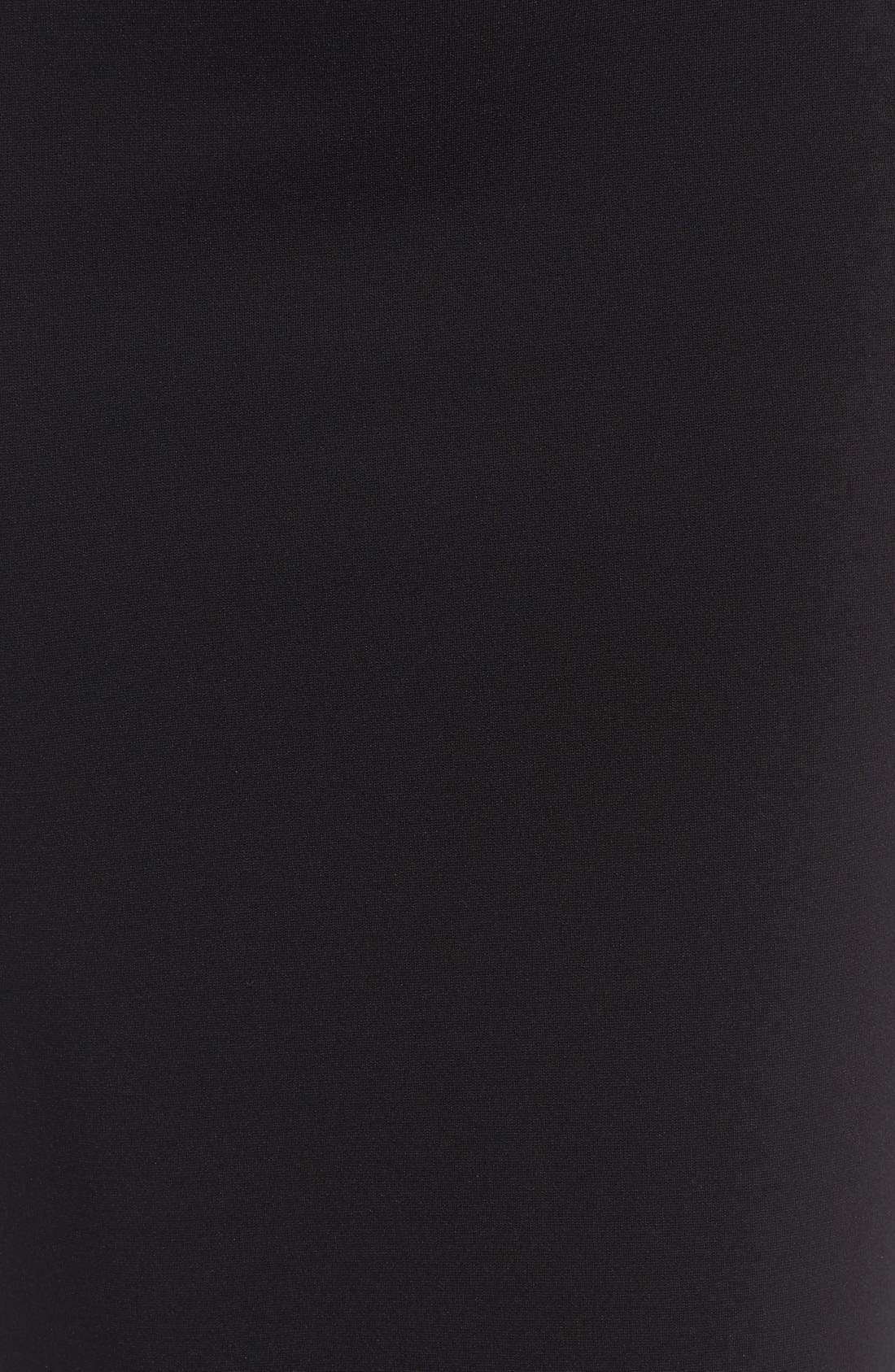 Ponte Midi Skirt,                             Alternate thumbnail 5, color,                             Rich Black