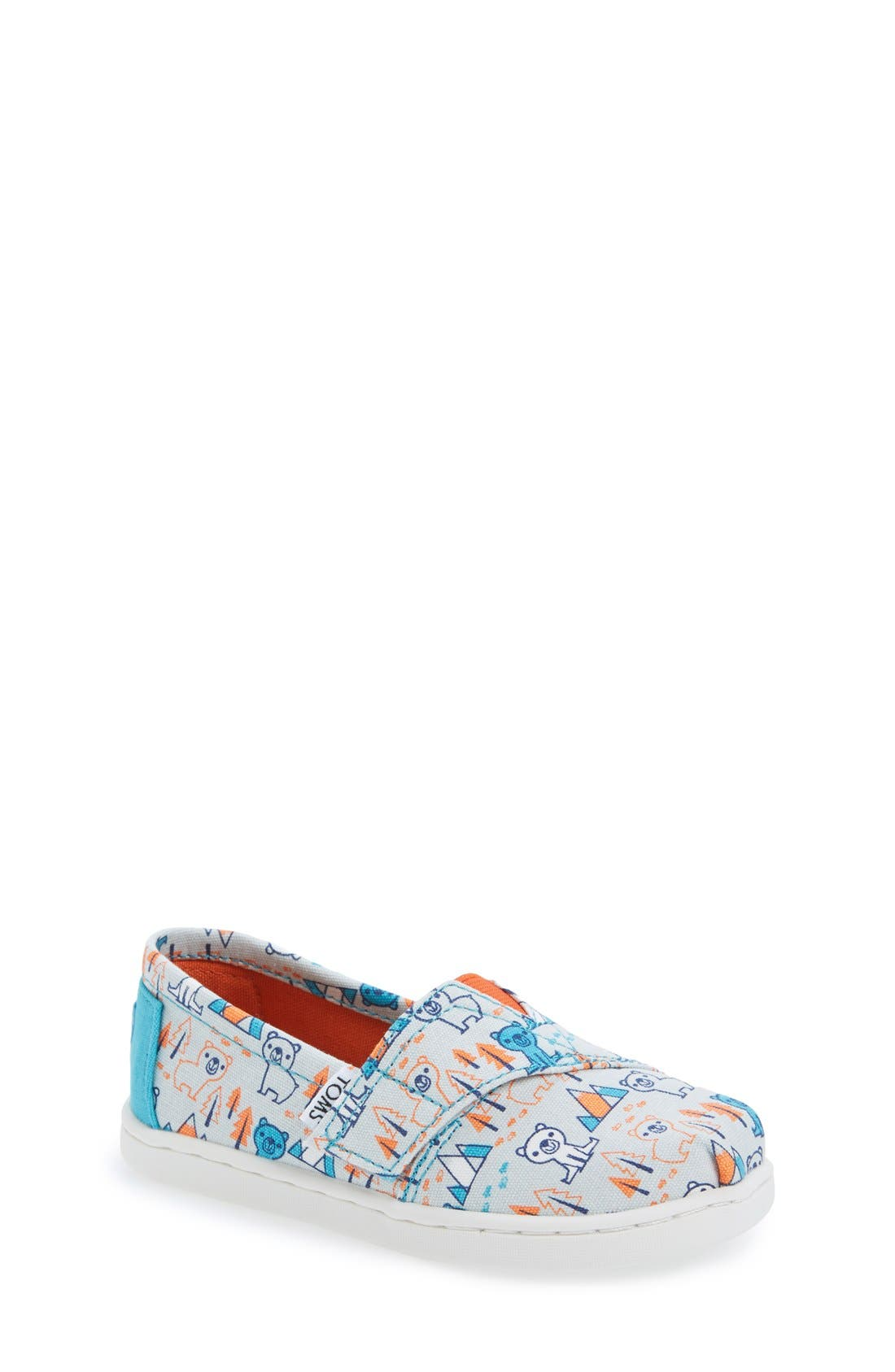 Alternate Image 1 Selected - TOMS 'Classic - Bears' Slip-On (Baby, Walker & Toddler)
