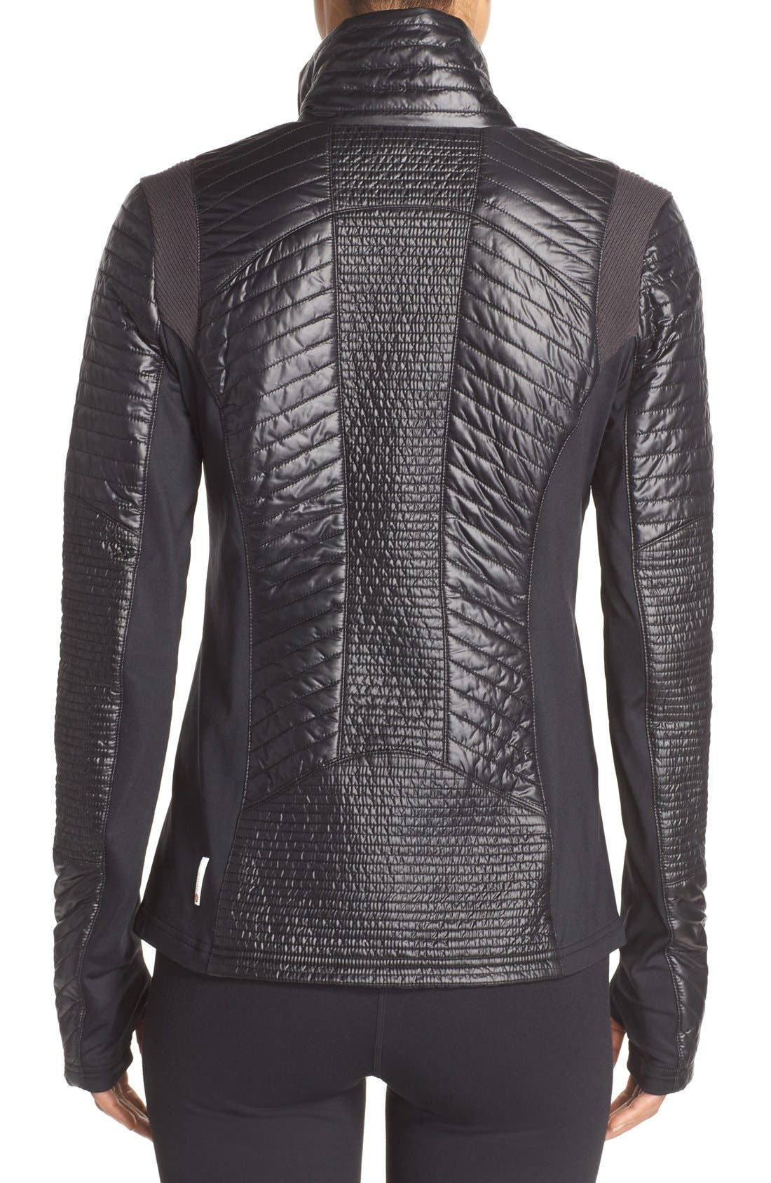 Alternate Image 2  - Zella Double Breasted Quilted Jacket