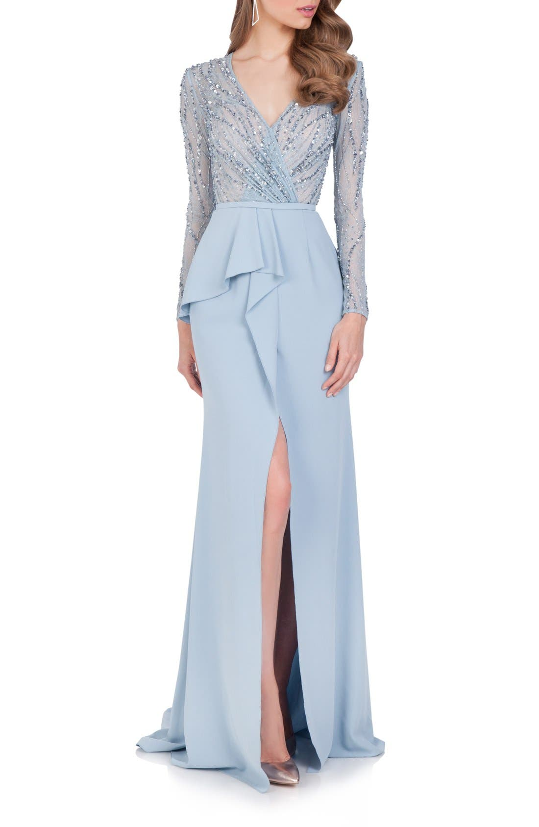 Alternate Image 1 Selected - Terani Couture Embellished Chiffon Gown