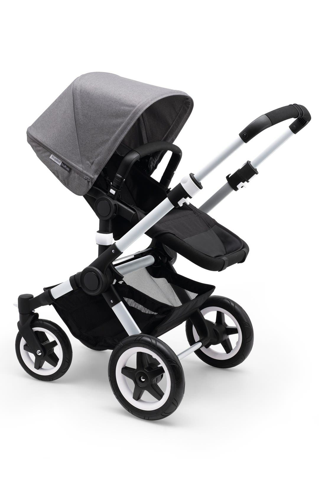 'Buffalo' Stroller Tailored Fabric Set with Extendable Sun Canopy,                             Alternate thumbnail 2, color,                             Grey Melange
