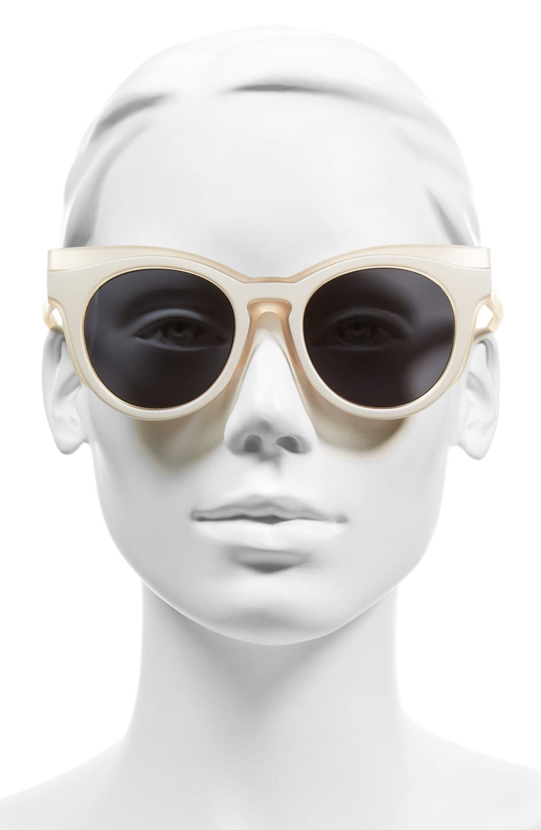 'Edition Three' 51mm Cat Eye Sunglasses,                             Alternate thumbnail 2, color,                             Matte Blush/ Amber Tort