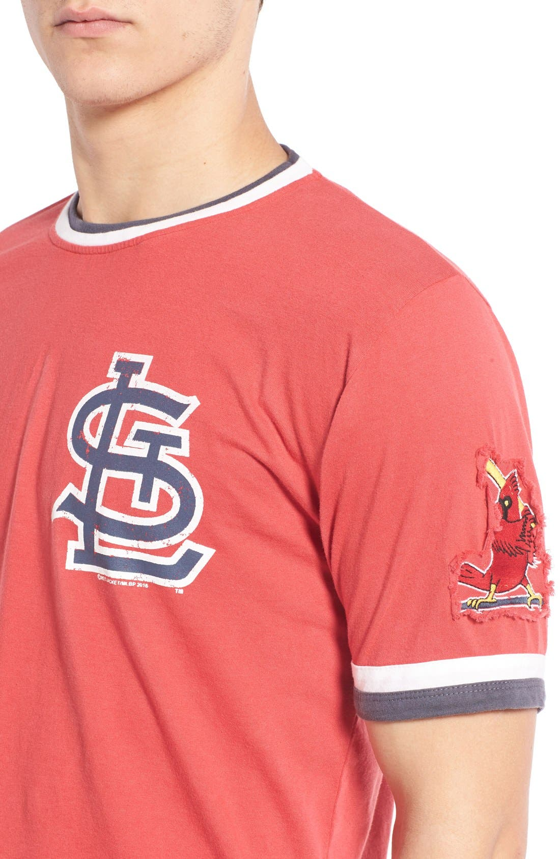 Alternate Image 4  - Red Jacket 'Saint Louis Cardinals - Remote Control' Trim Fit T-Shirt