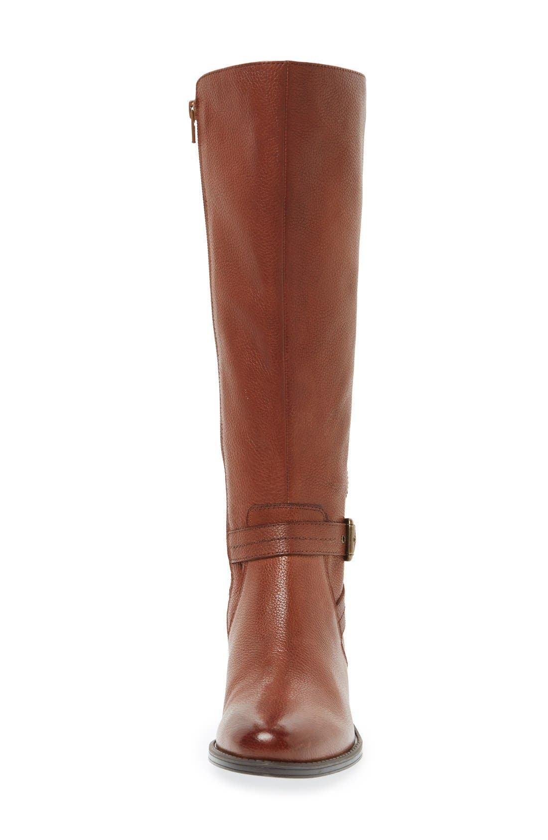'Jelina' Riding Boot,                             Alternate thumbnail 3, color,                             Brown Leather
