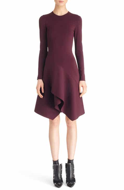 Givenchy Handkerchief Hem Crepe Jersey Dress by GIVENCHY