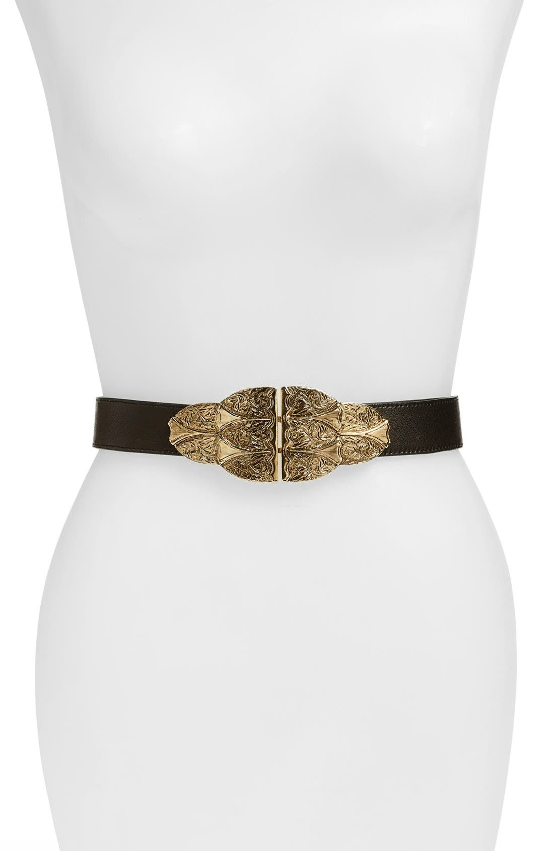 Main Image - Raina Oversized Buckle Belt