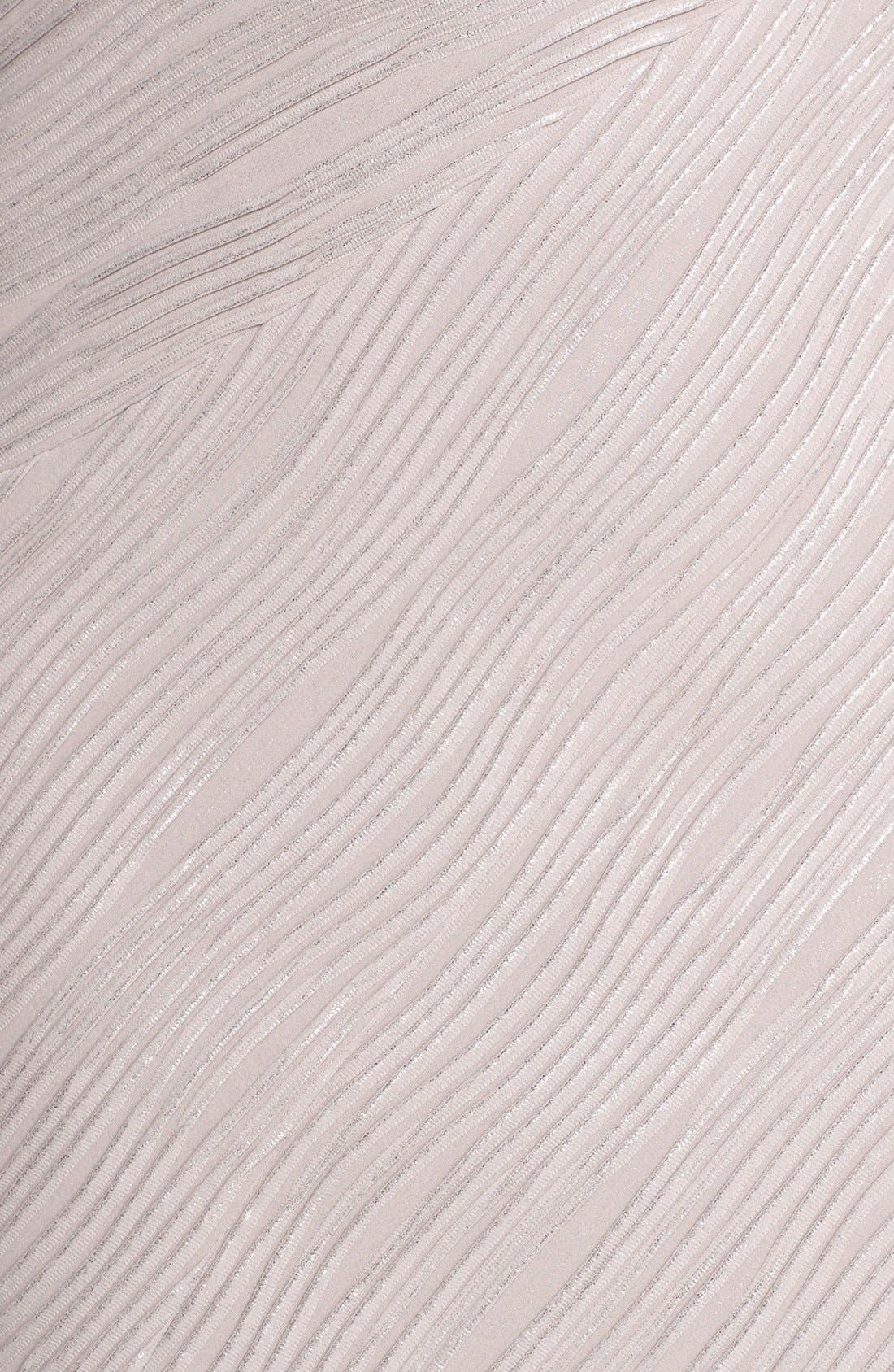 Embellished Sleeve Knit Sheath Dress,                             Alternate thumbnail 6, color,                             Taupe