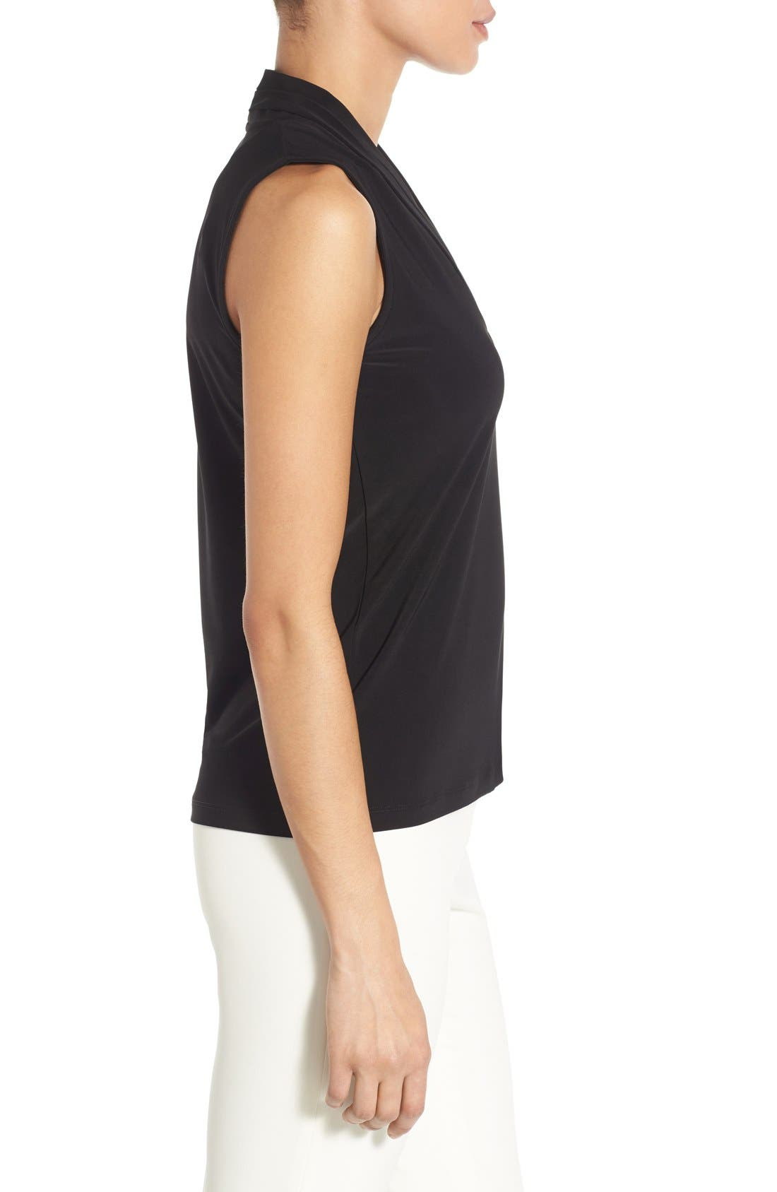 Alternate Image 3  - Anne Klein Triple Pleat V-Neck Jersey Top