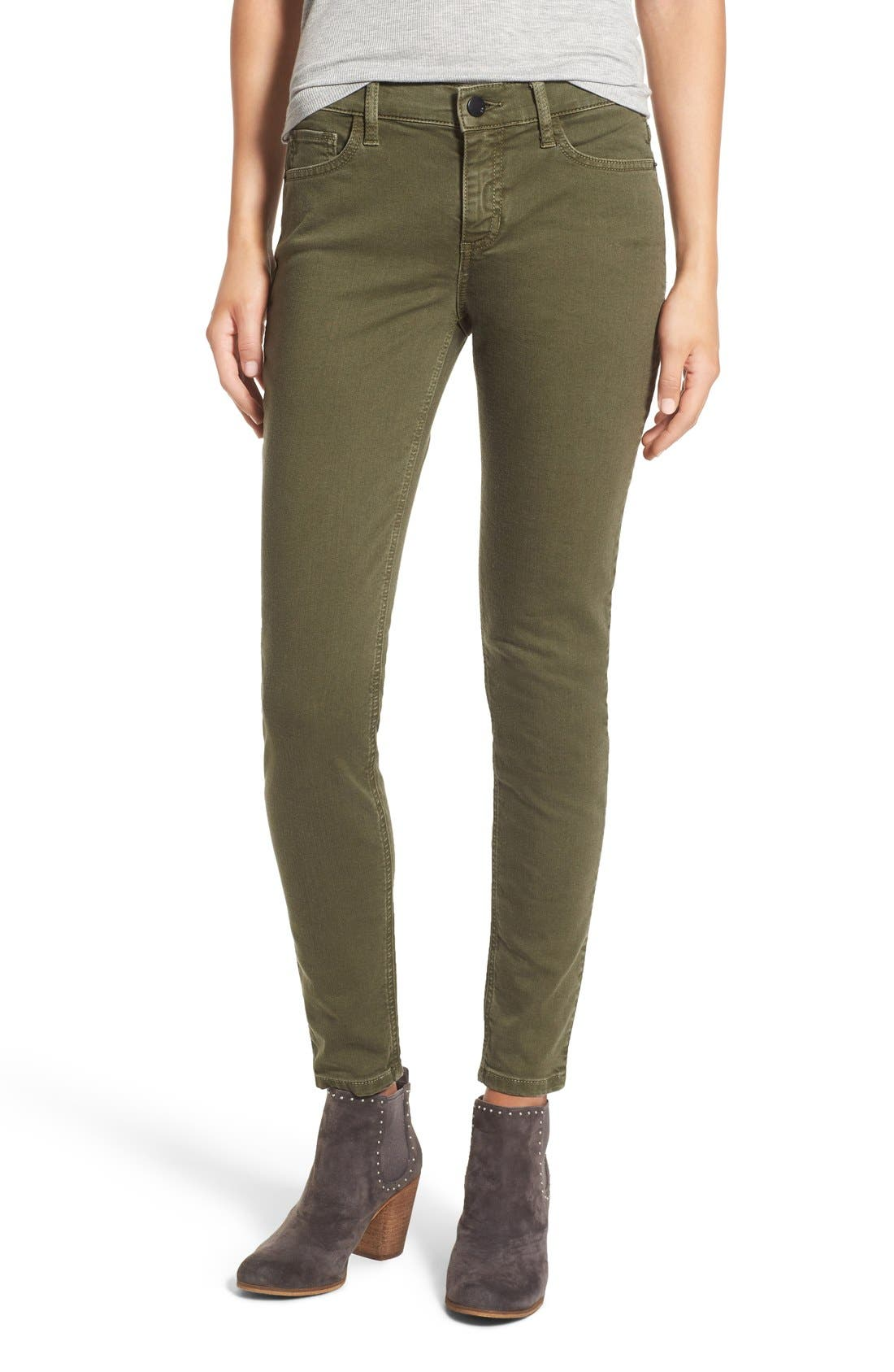 Alternate Image 1 Selected - SP Black Stretch Cotton Skinny Jeans