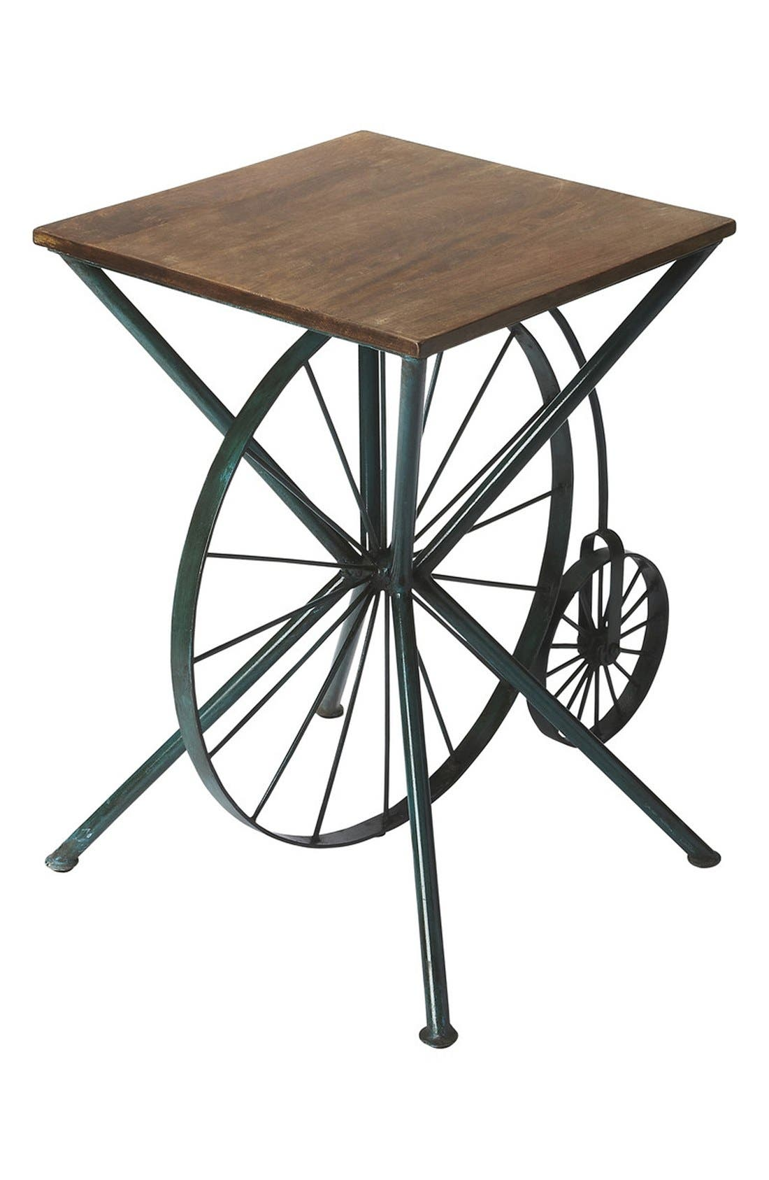 Bicycle Accent Table,                         Main,                         color, Brown