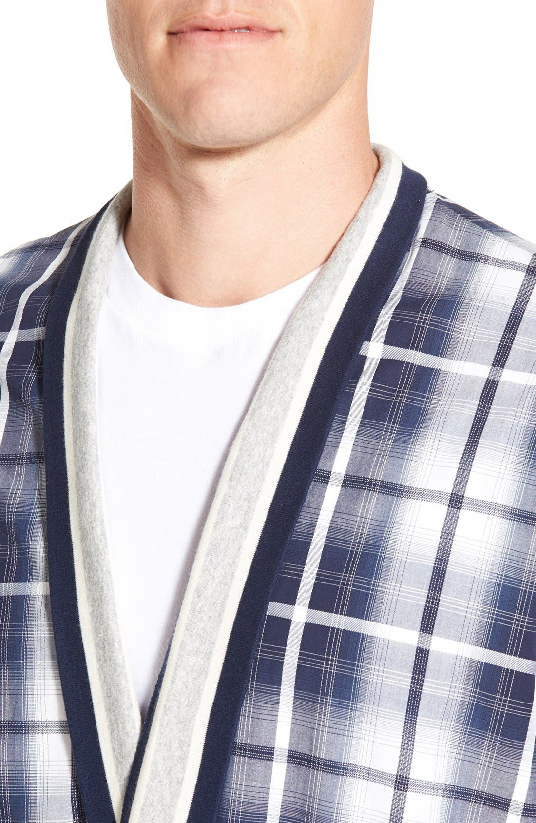 'Mad 4 Plaid' Robe,                             Alternate thumbnail 4, color,                             Blue