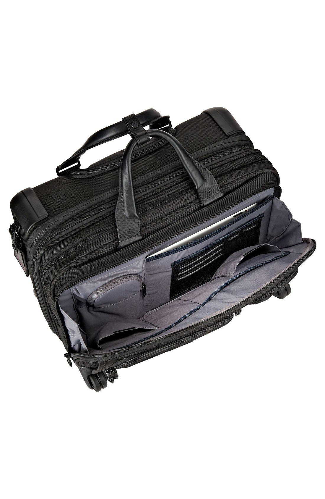 Alpha 2 Deluxe Wheeled Briefcase,                             Alternate thumbnail 5, color,                             Black