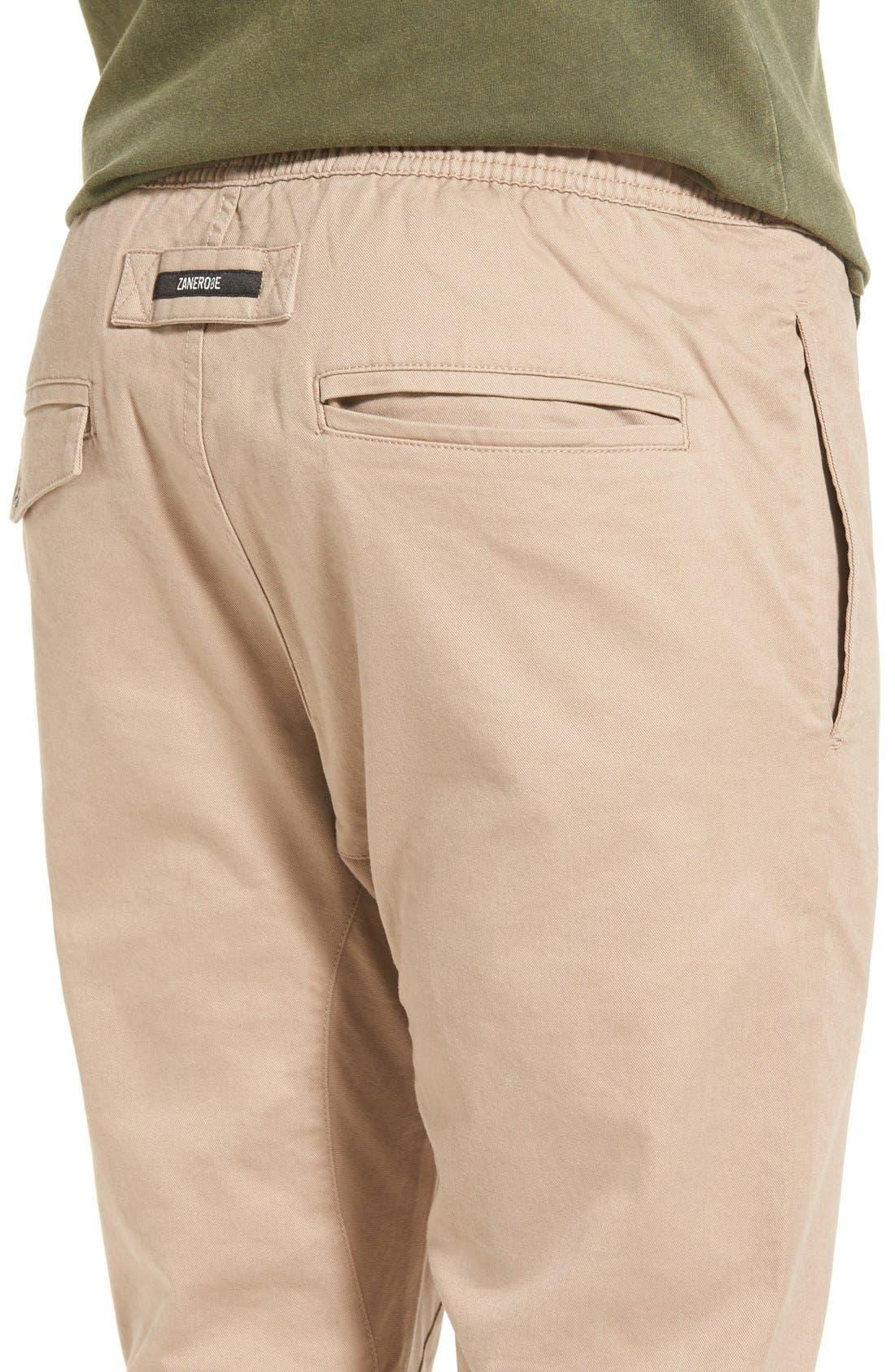'Salerno' Chino Jogger Pants,                             Alternate thumbnail 4, color,                             Tan