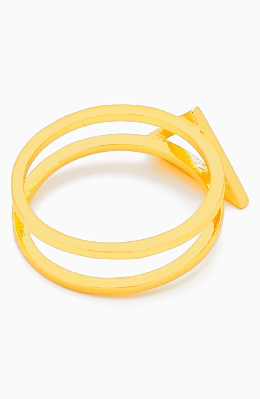 Alternate Image 2  - gorjana 'Anya' Openwork Triangle Ring