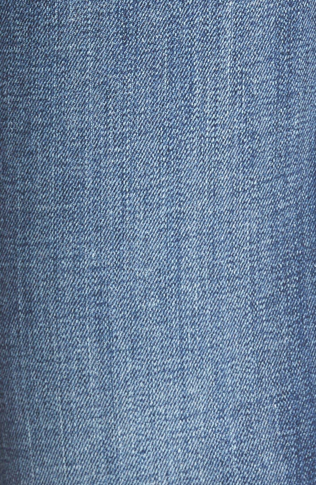 Alternate Image 5  - Vigoss 'Chelsea' Frayed Hem Skinny Jeans