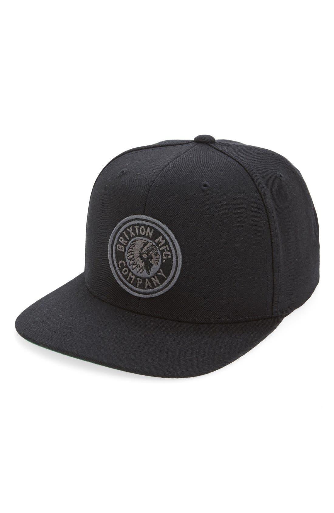 'Rival' Snapback Baseball Cap,                         Main,                         color, Black