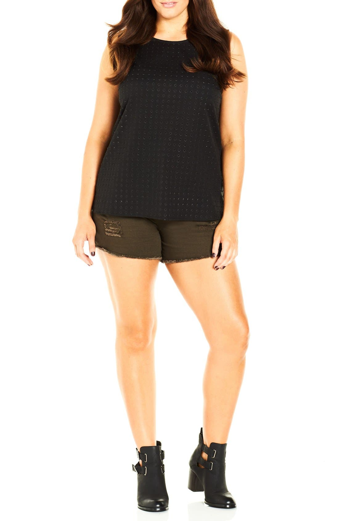 Alternate Image 1 Selected - City Chic Embellished Tank (Plus Size)