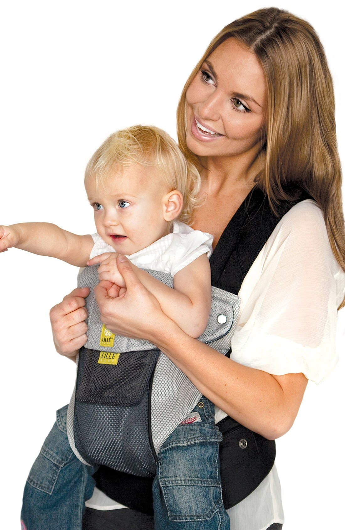 'Airflow' Baby Carrier,                             Alternate thumbnail 3, color,                             Grey/ Silver