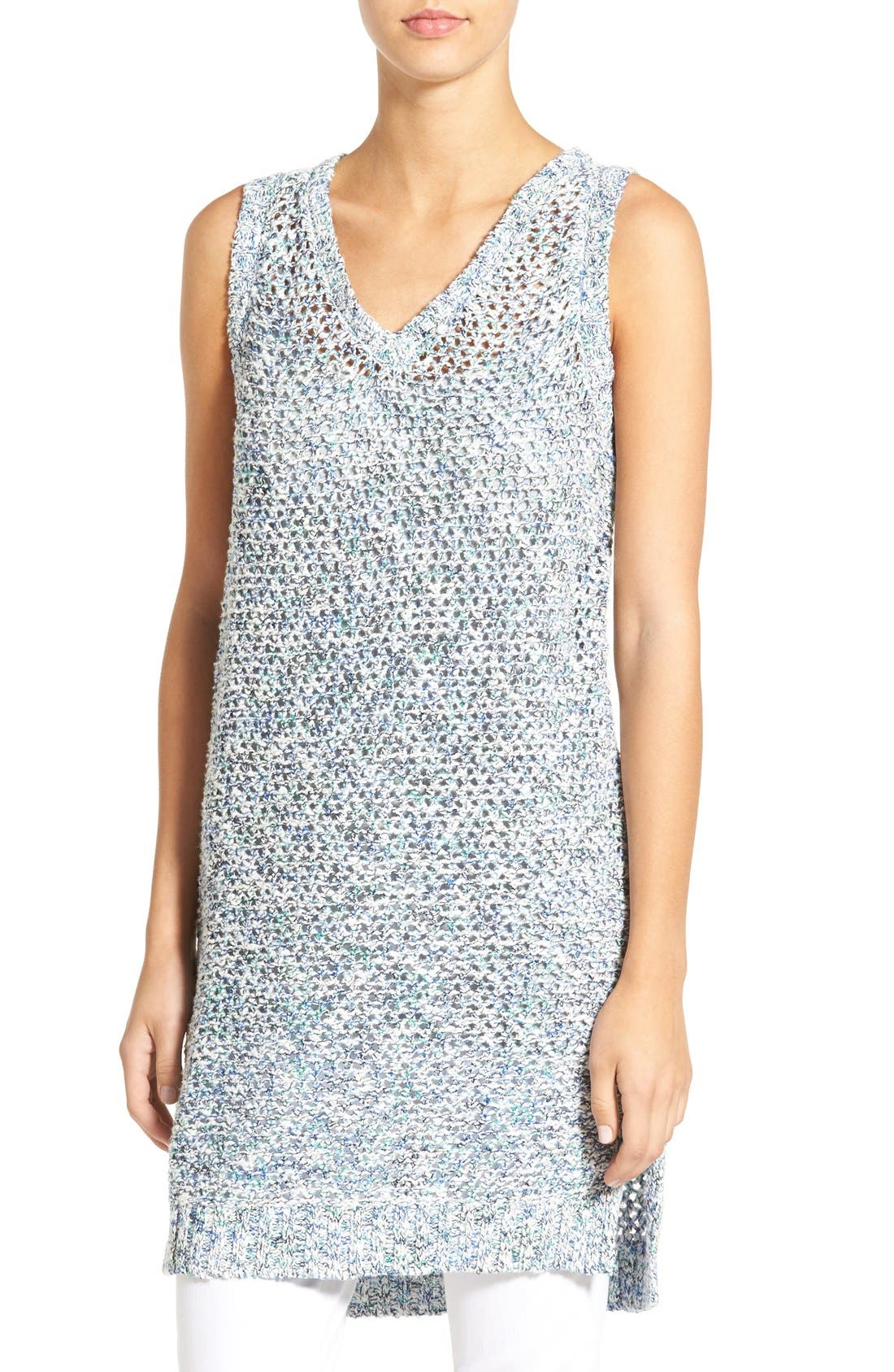 Alternate Image 1 Selected - Willow & Clay Sleeveless Open Knit Tunic