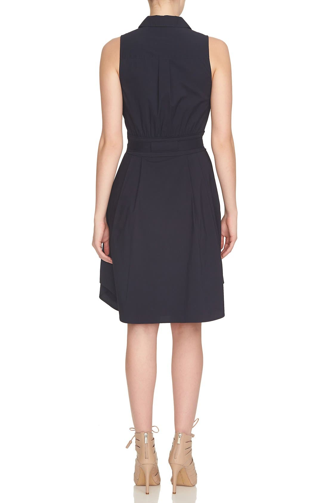Alternate Image 2  - Cynthia Steffe Collared Cotton Blend Fit & Flare Dress