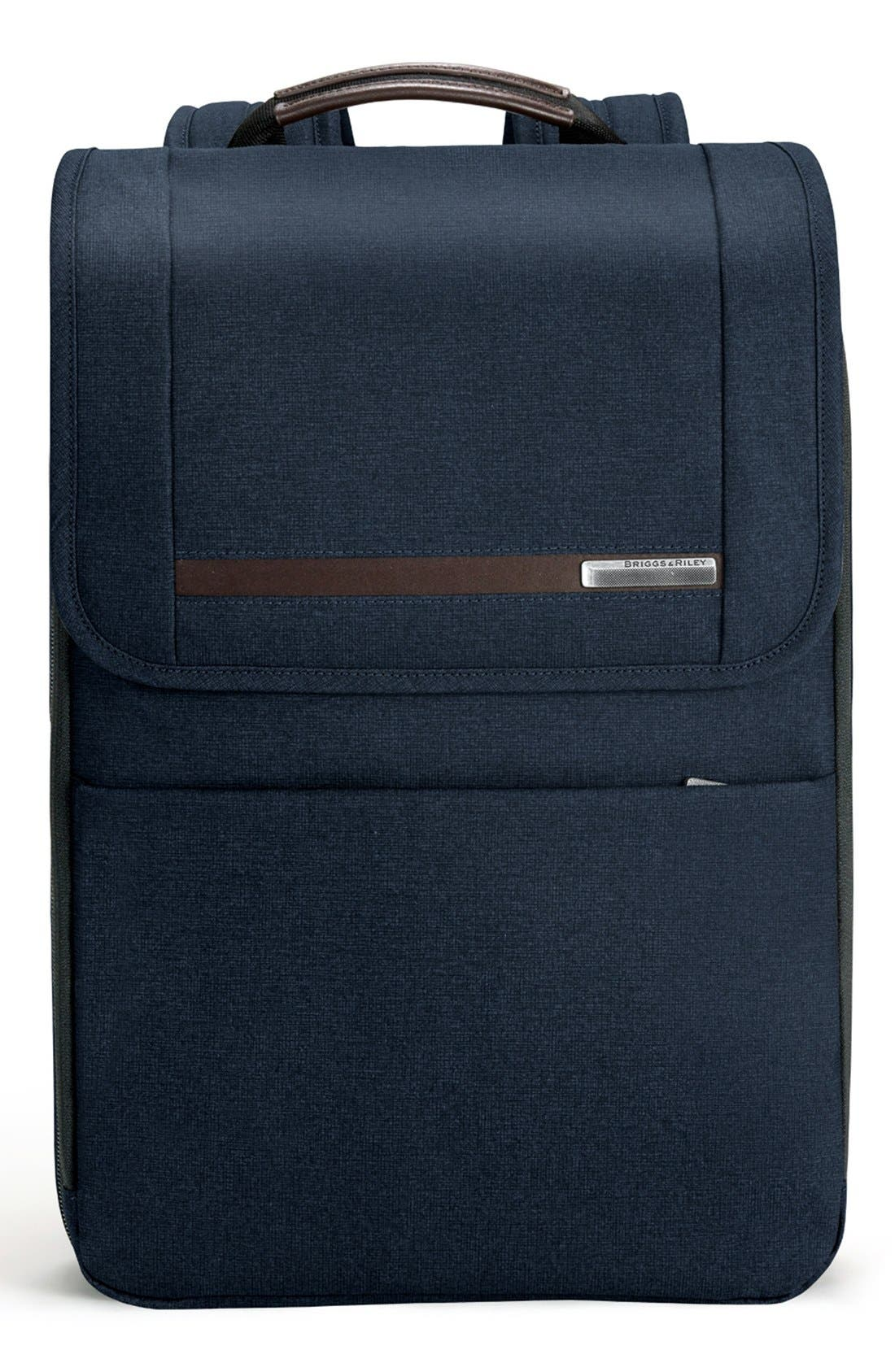 Kinzie Street Expandable Backpack,                         Main,                         color, Navy Blue