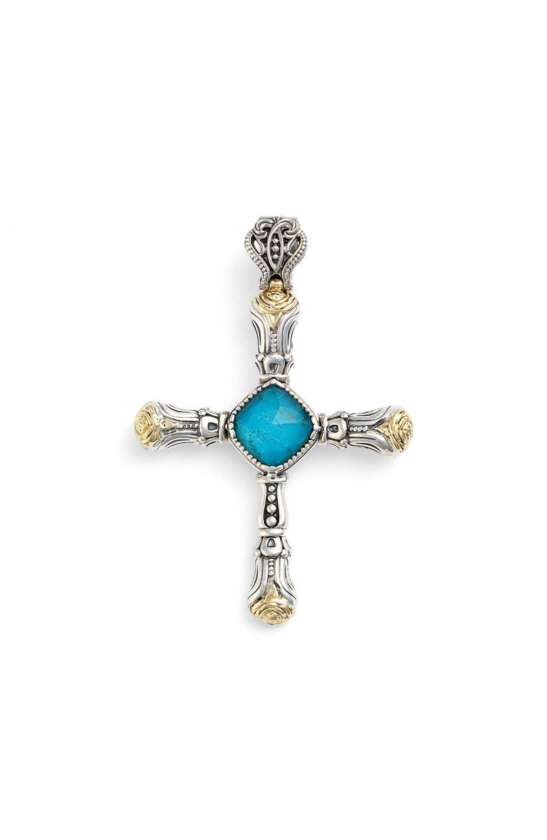KONSTANTINO Iliada Doublet Cross Pendant