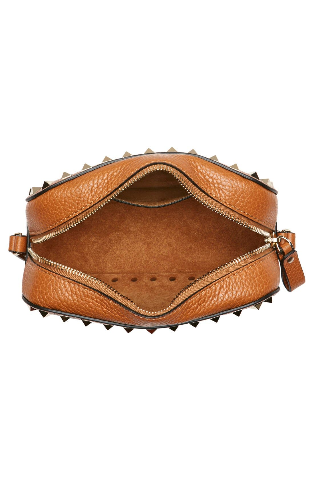 Alternate Image 4  - Valentino 'Rockstud - Alce' Calfskin Leather Camera Crossbody Bag