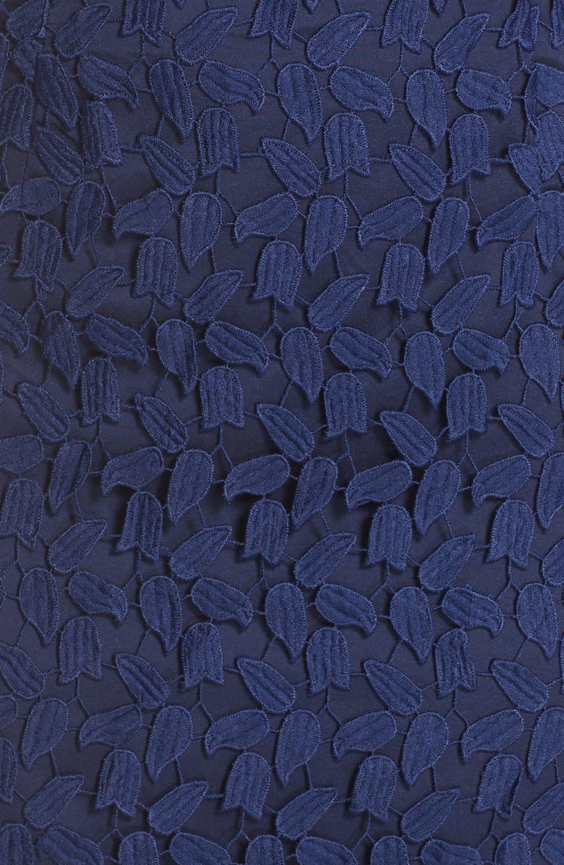 Gemma Halter Lace Sheath Dress,                             Alternate thumbnail 5, color,                             Blue Ink