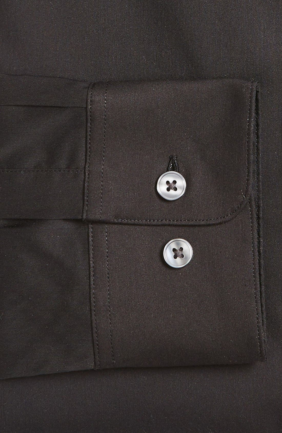 Alternate Image 2  - John Varvatos Star USA Slim Fit Solid Stretch Cotton Dress Shirt