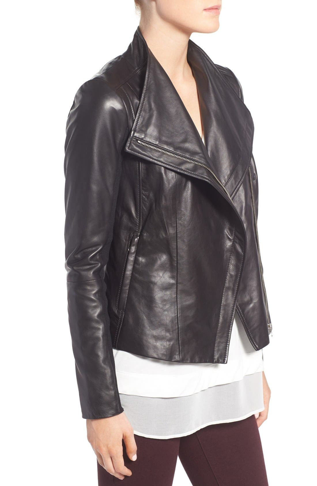 Alternate Image 4  - Trouvé Leather Moto Jacket