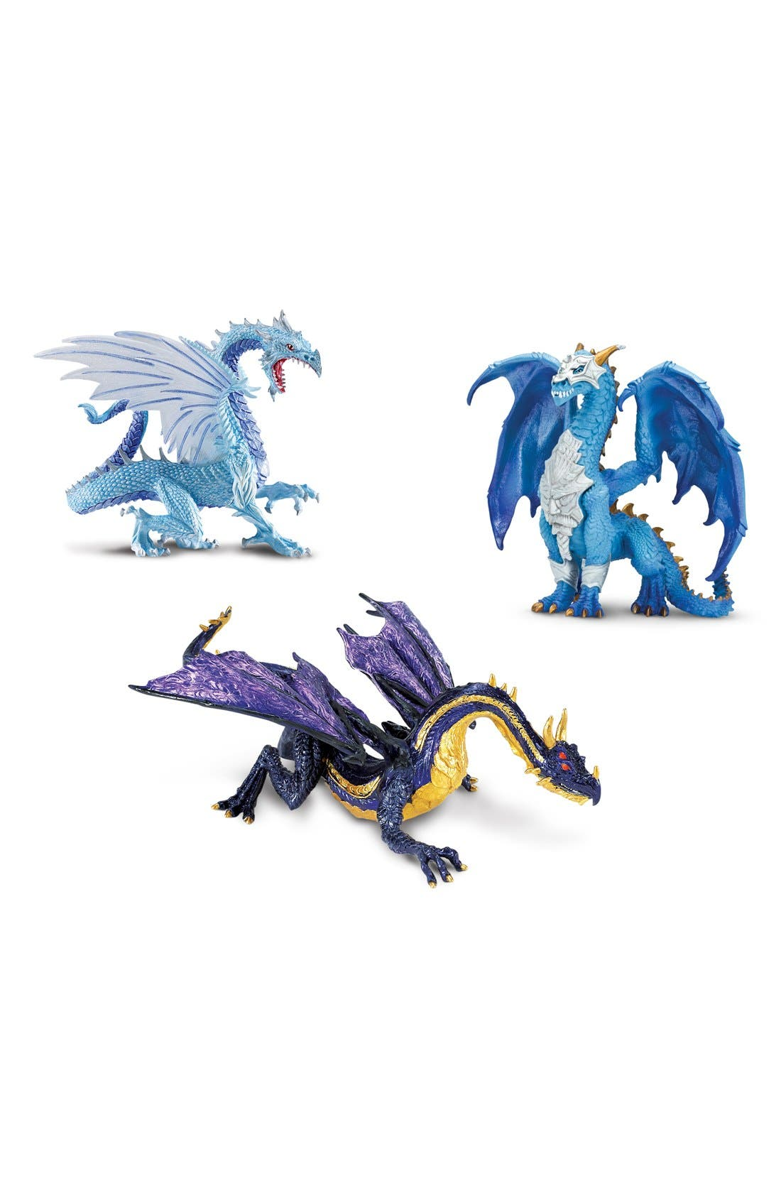 Dragon Figurines,                             Main thumbnail 1, color,                             Green