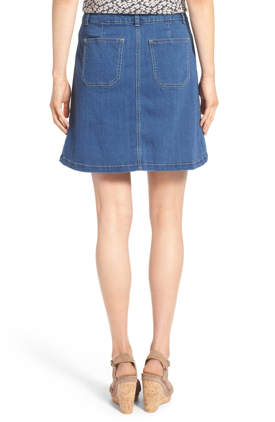Alternate Image 2  - Wit & Wisdom Button Front Denim Skirt (Nordstrom Exclusive)