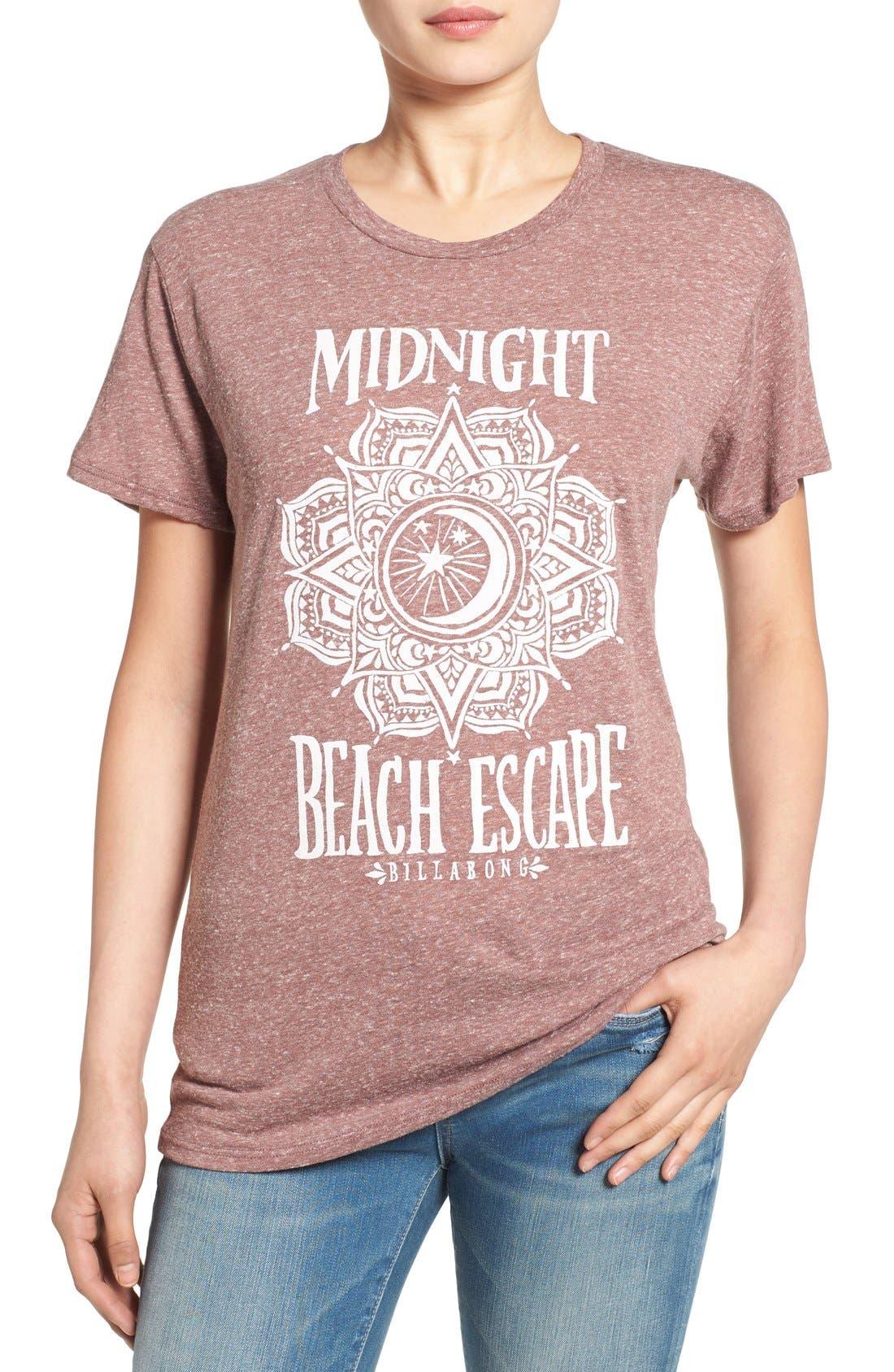 'Midnight Escape' Graphic Tee,                         Main,                         color, Mauve Wood