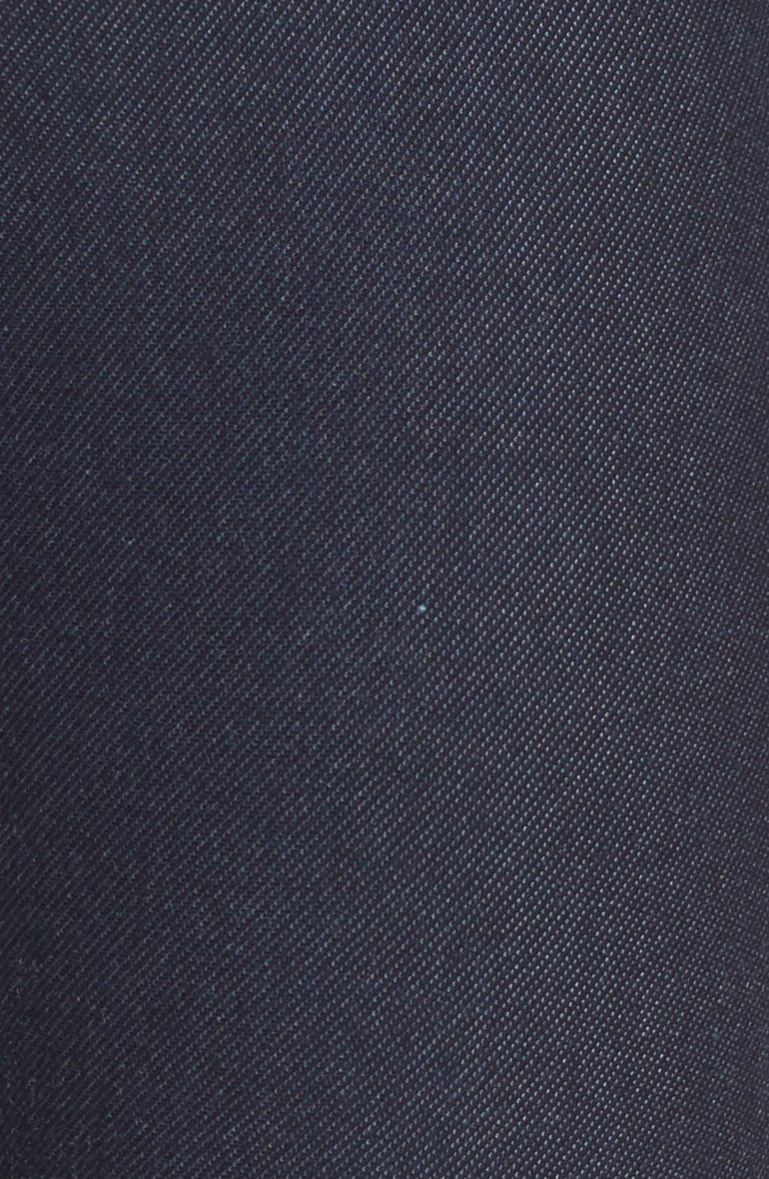 Denim Leggings,                             Alternate thumbnail 5, color,                             Deep Indigo