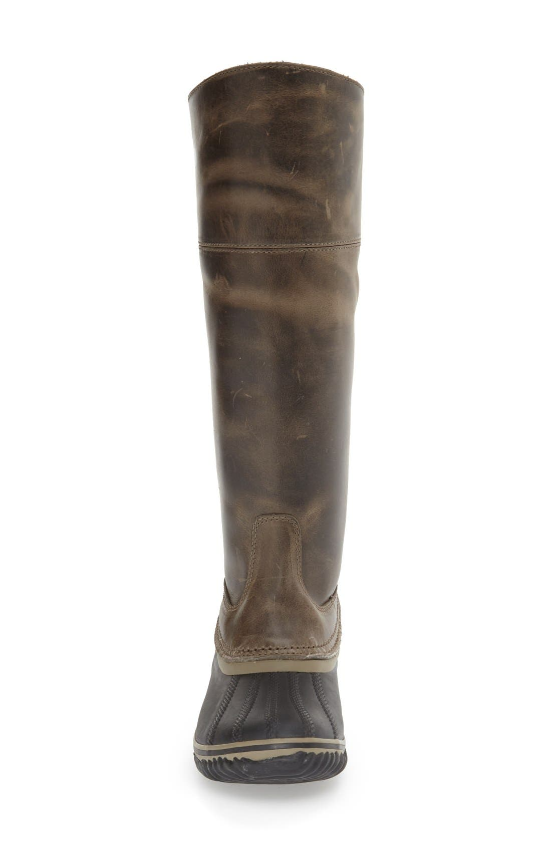 'Slimpack II' Waterproof Riding Boot,                             Alternate thumbnail 3, color,                             Dark Fog