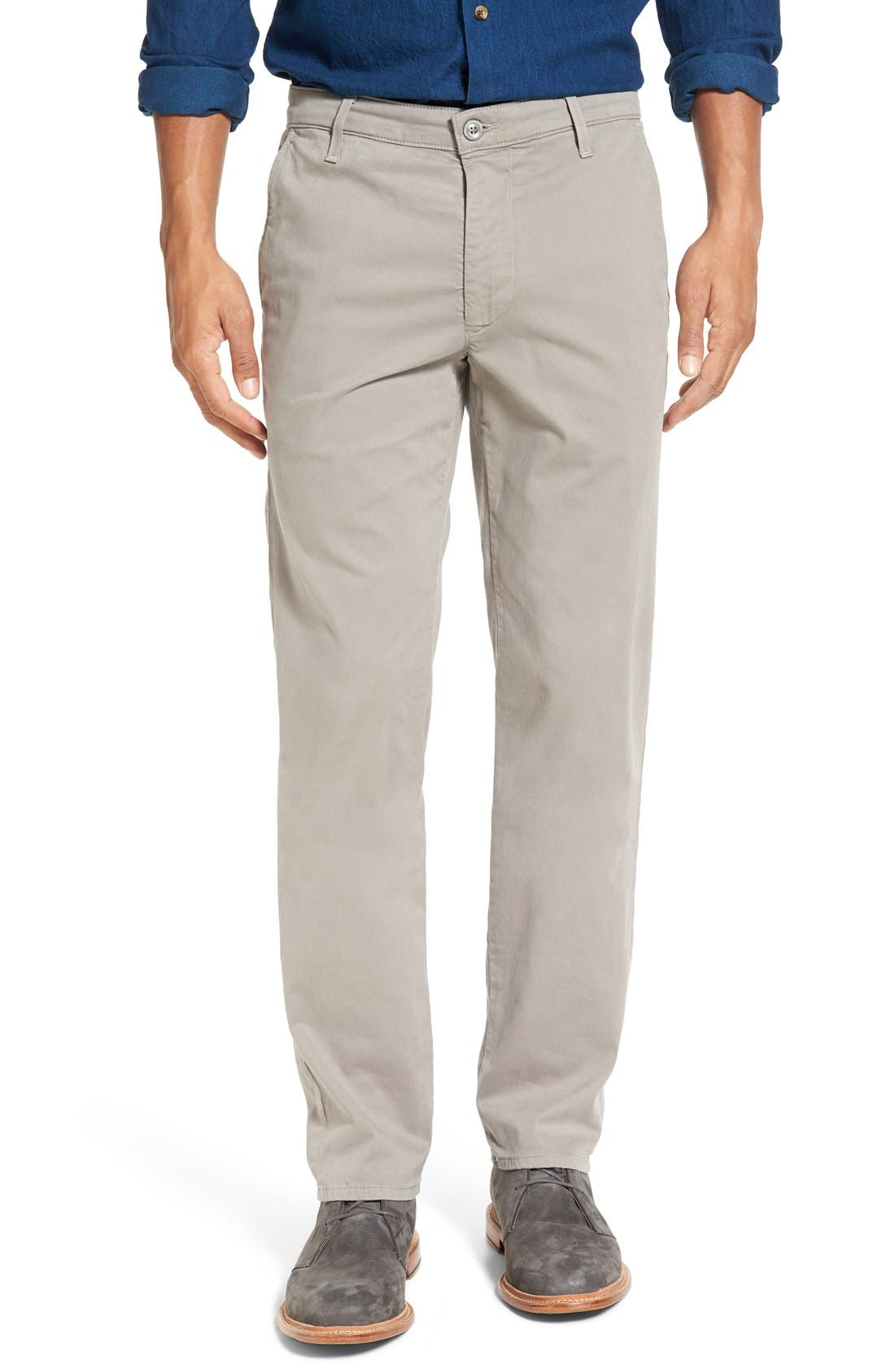 'The Lux' Tailored Straight Leg Chinos,                         Main,                         color, Stucco