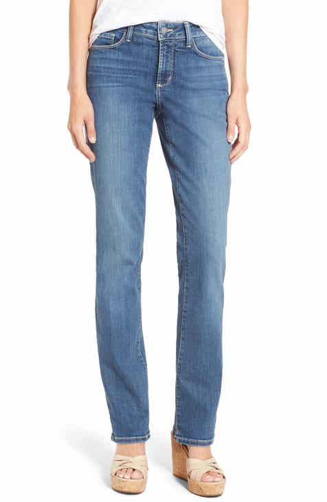 3d278c22a3f53 NYDJ Marilyn Stretch Straight Leg Jeans (Heyburn) (Regular   Petite)