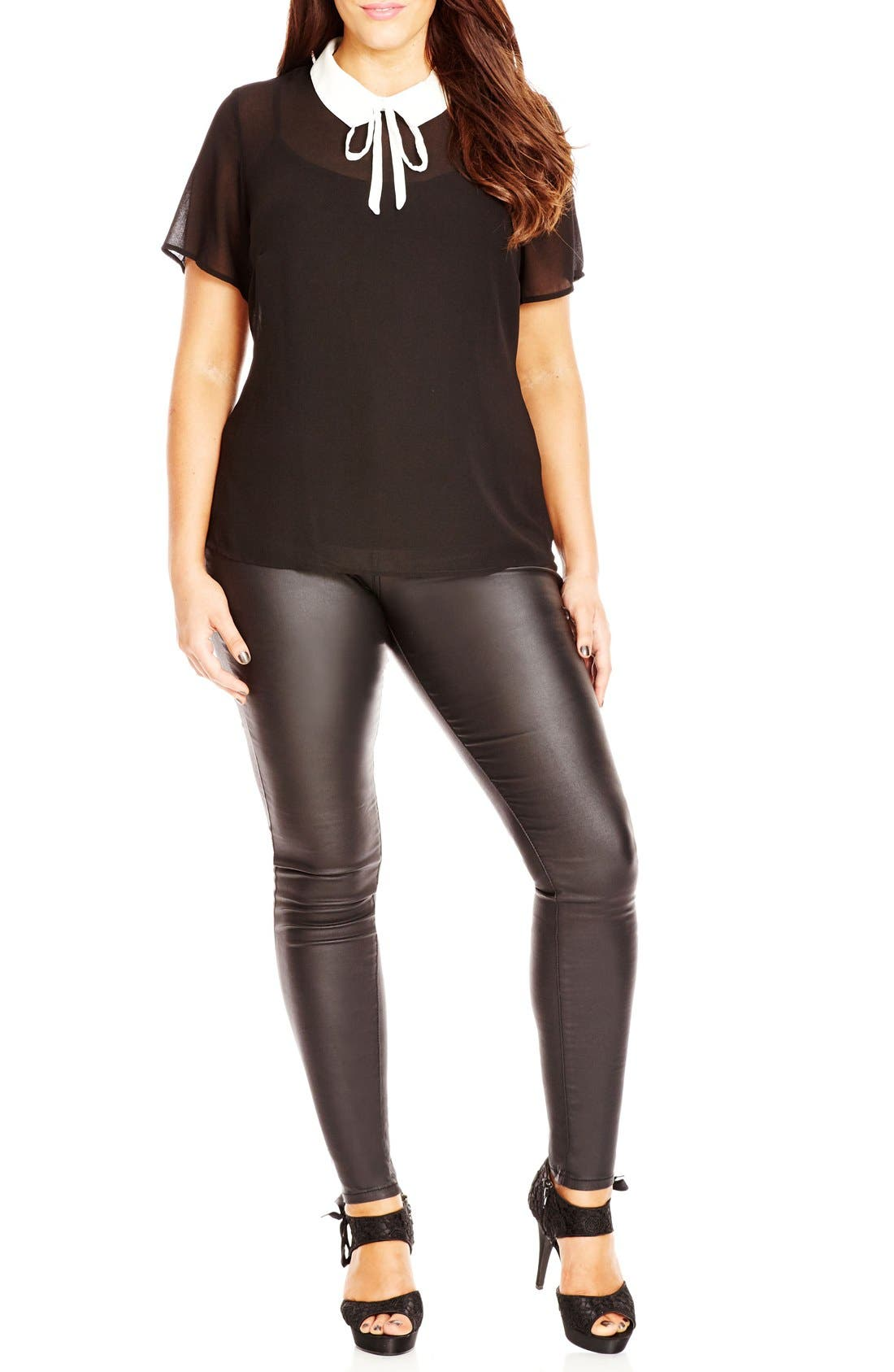 'Just a Girl' Top,                         Main,                         color, Black
