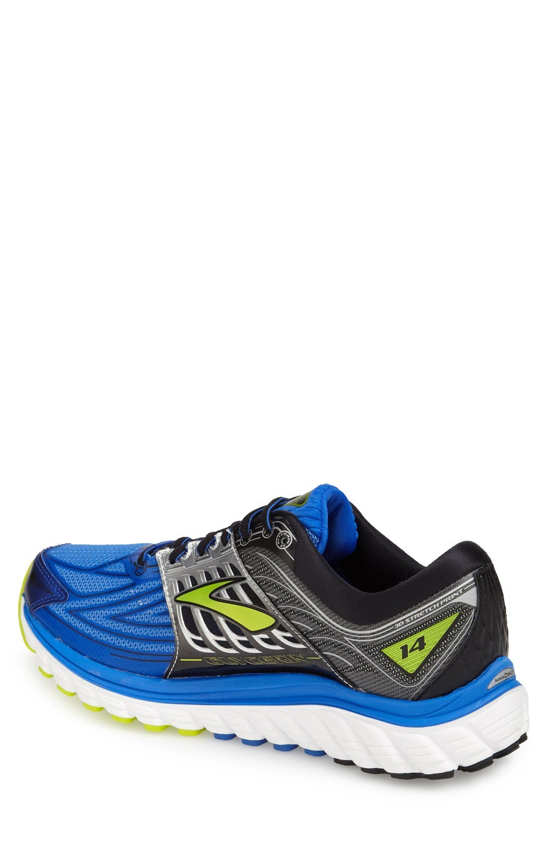 'Glycerin 14' Running Shoe,                             Alternate thumbnail 2, color,                             Electric Blue/ Black/ Punch