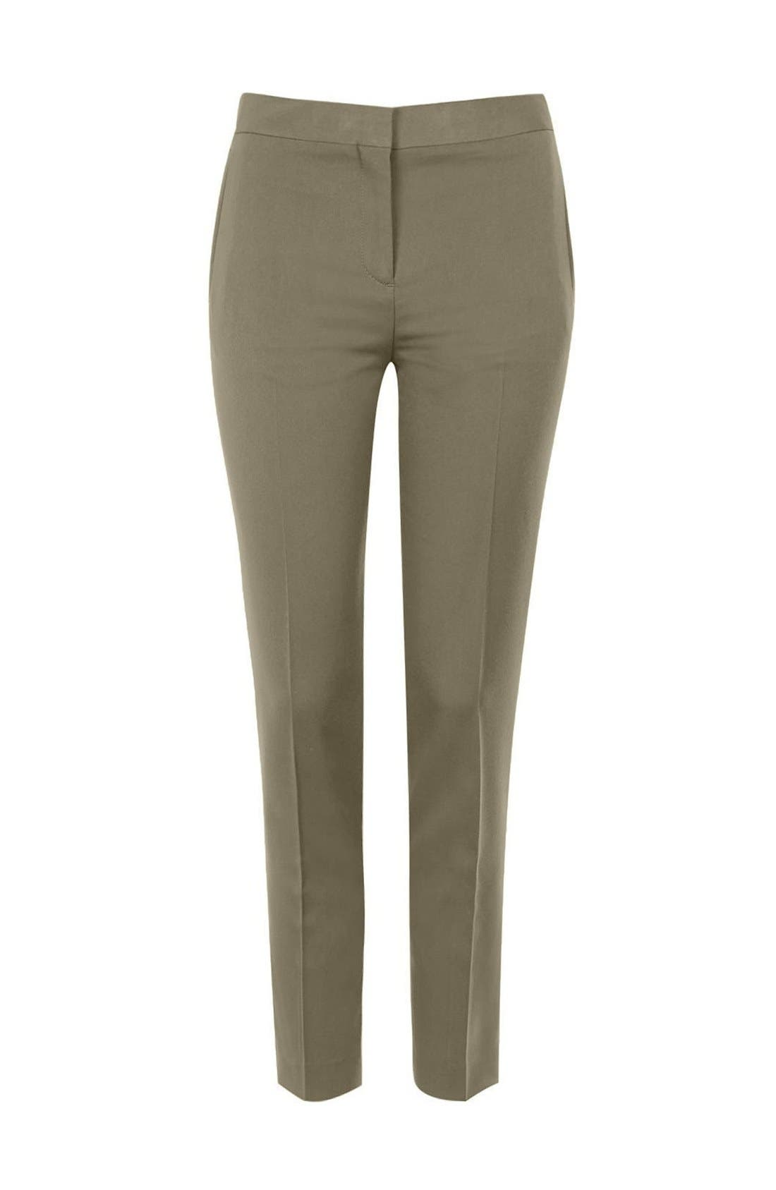 Alternate Image 4  - Topshop Crop Fitted Trousers