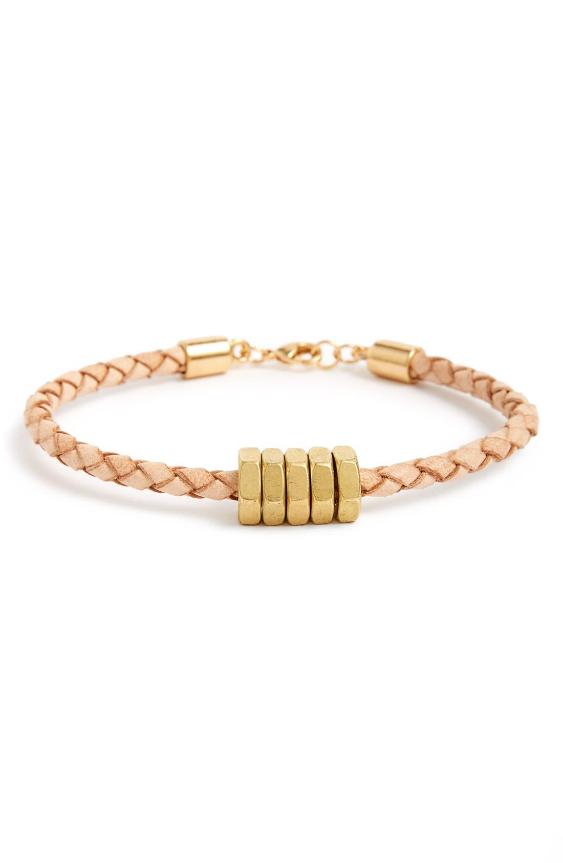 HALF UNITED Honeybee Braided Leather Bracelet