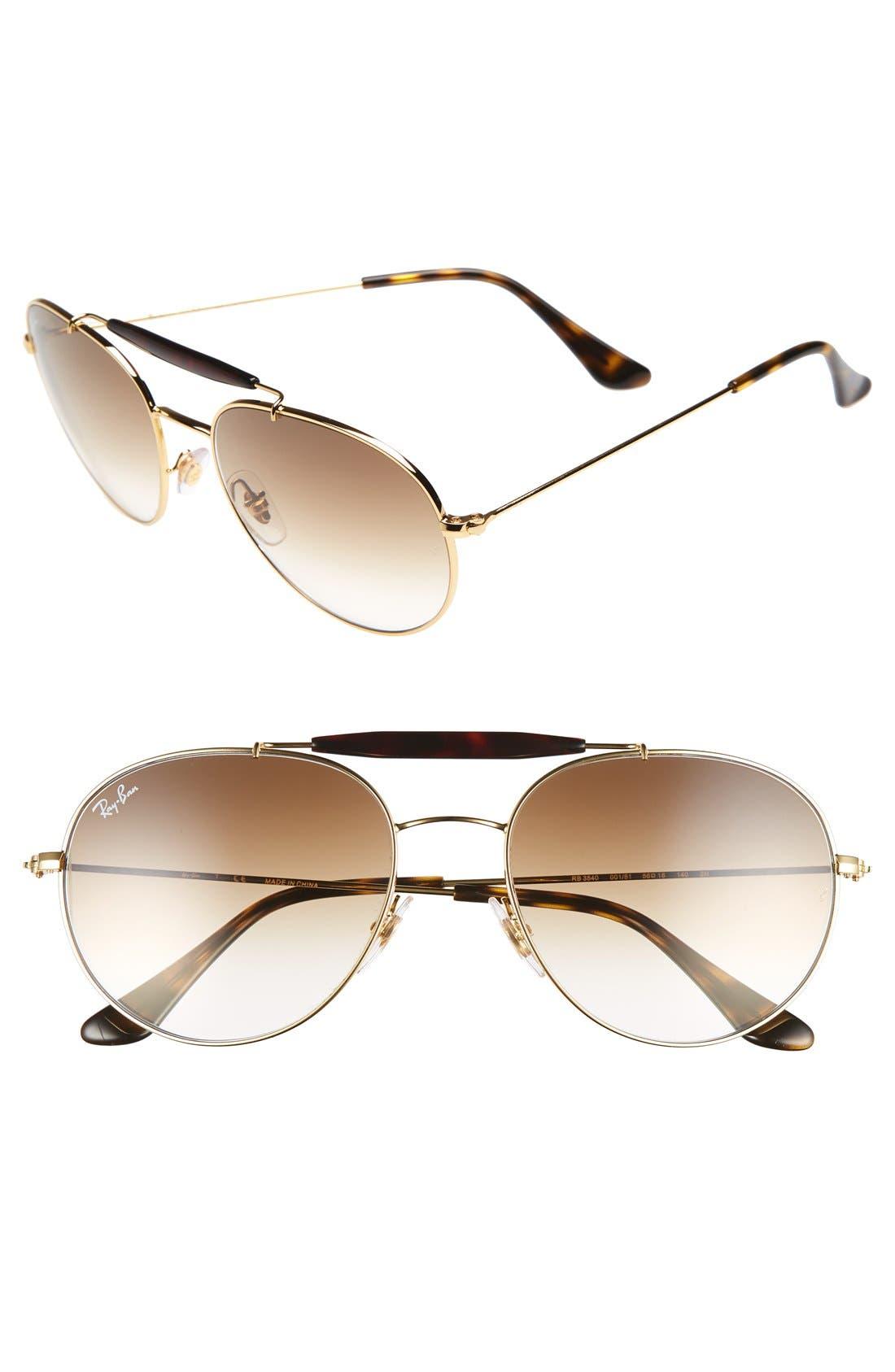 Main Image - Ray-Ban Highstreet 56mm Sunglasses