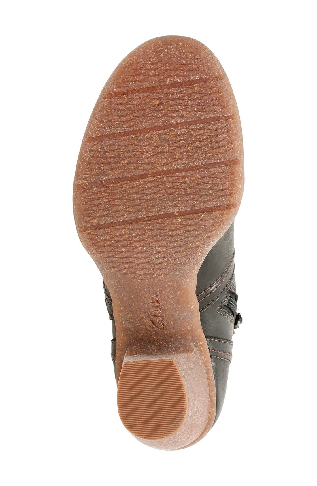 'Carleta Paris' Ankle Boot,                             Alternate thumbnail 4, color,                             Black Leather