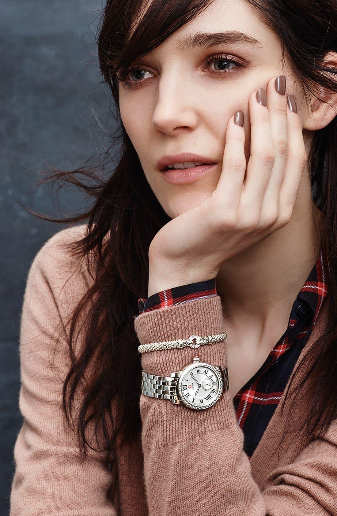 Alternate Image 4  - MICHELE 'Harbor Diamond' Watch with Bracelet, 35mm