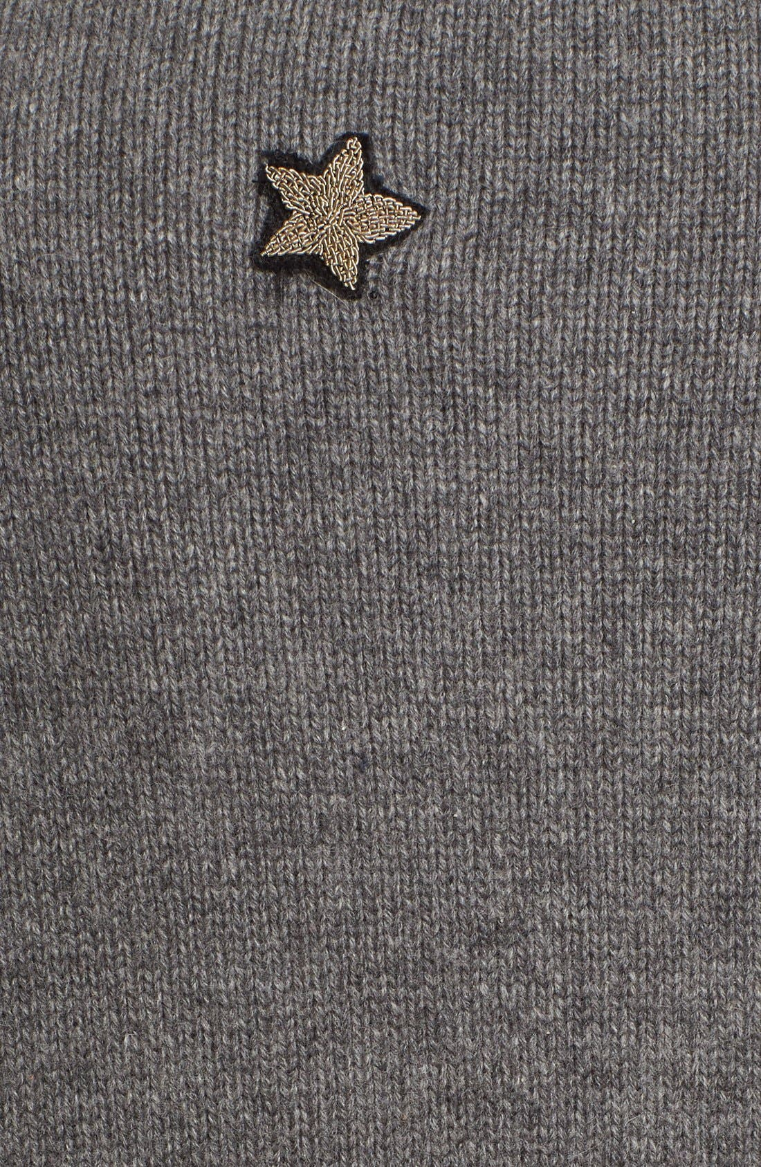 'Skye' Embellished Cardigan,                             Alternate thumbnail 6, color,                             Charcoal