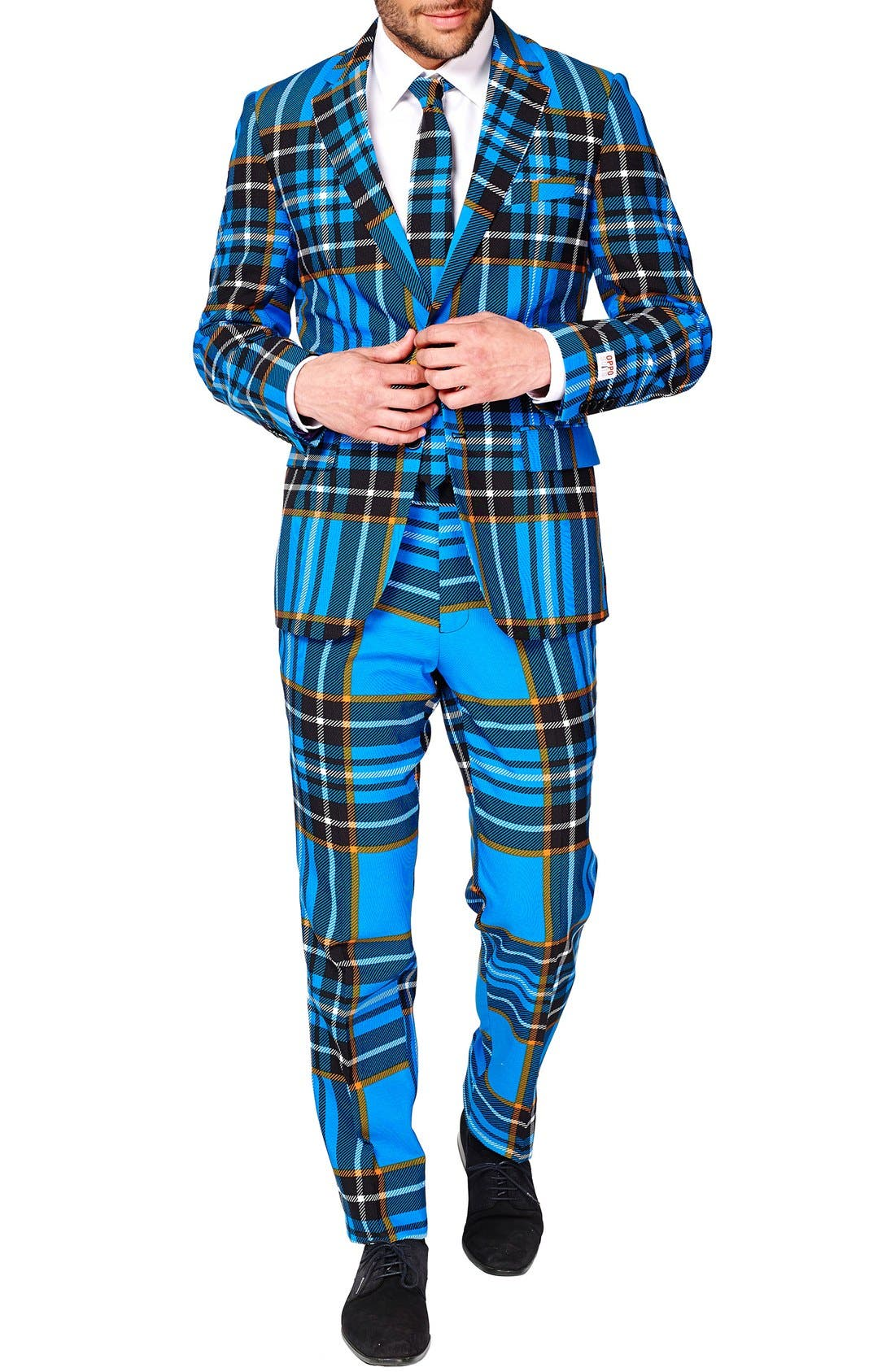 Alternate Image 4  - OppoSuits 'Braveheart' Trim Fit Suit with Tie