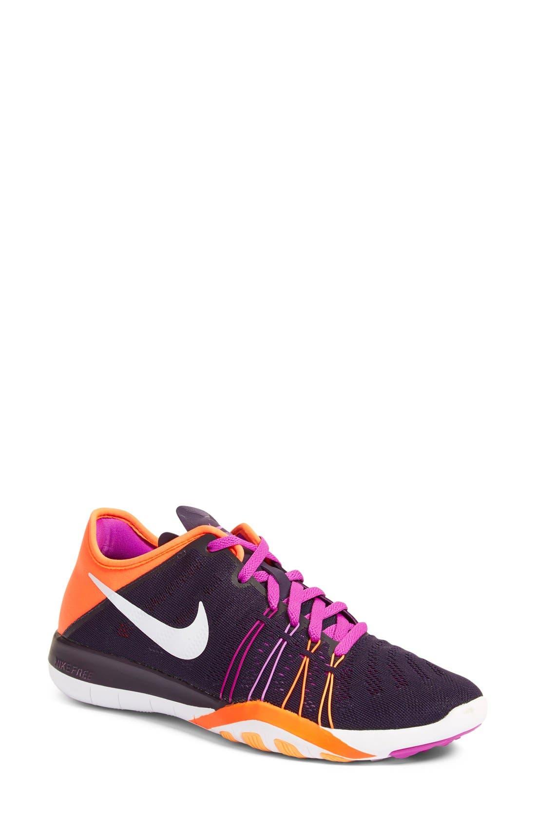 Free TR Fit 6 Training Shoe,                         Main,                         color, Violet/ White/ Crimson
