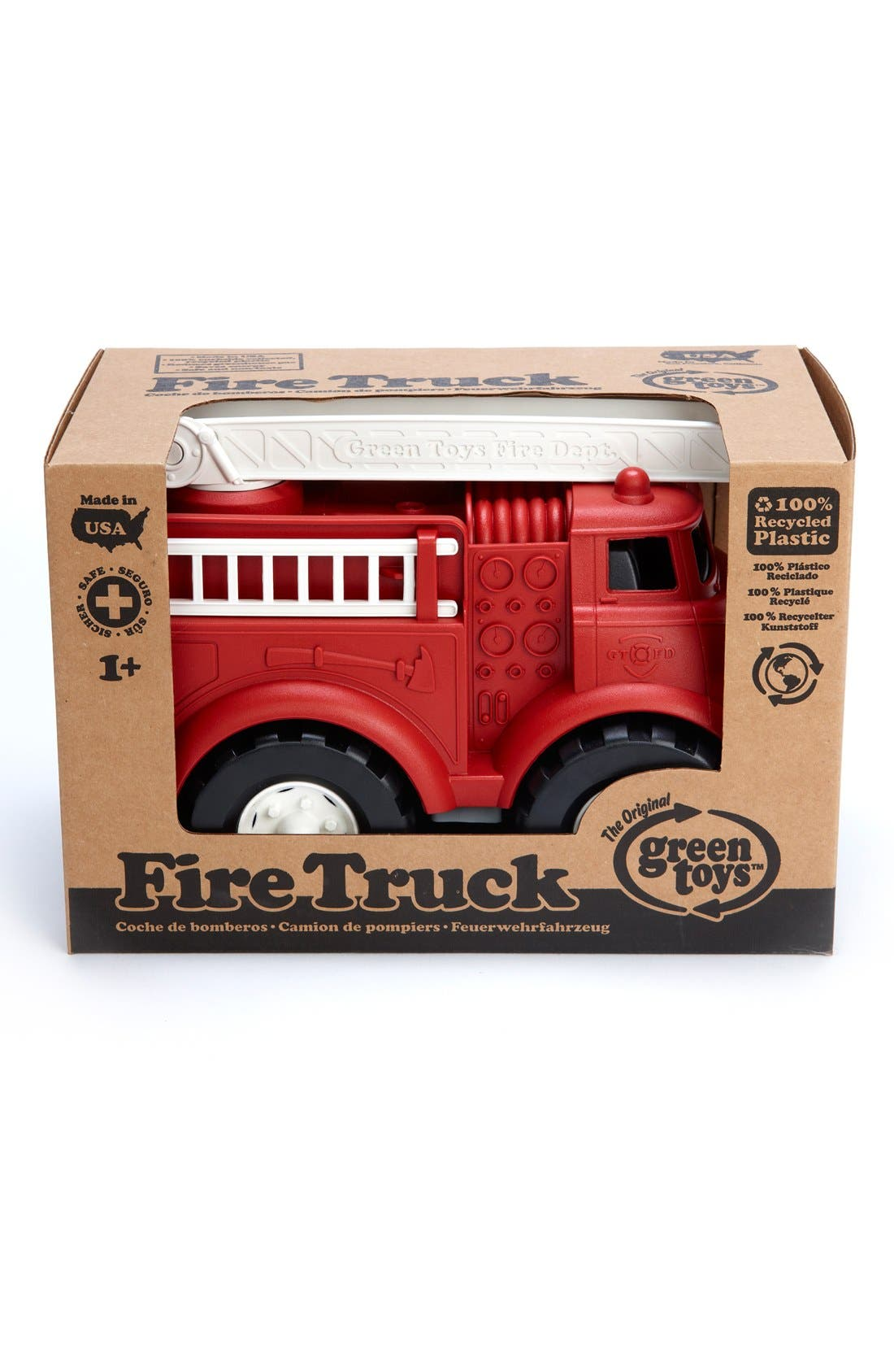Fire Truck Toy,                             Alternate thumbnail 5, color,                             Misc