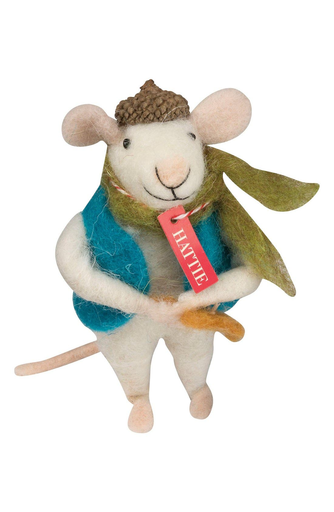 Holiday Mouse Figurine,                         Main,                         color, Hattie