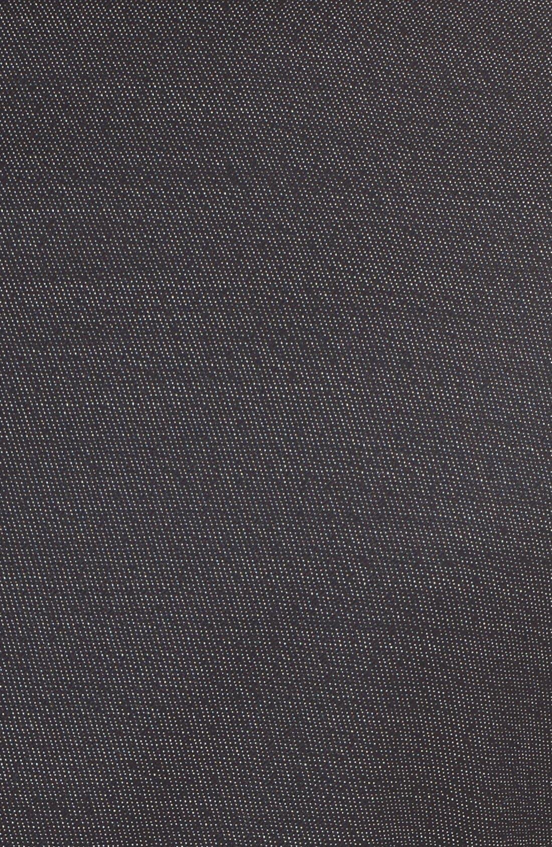 Extra Trim Fit Textured Wool Suit,                             Alternate thumbnail 7, color,                             Black